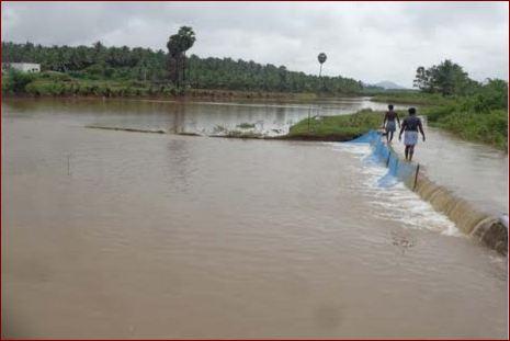 செயமங்கலம் கண்மாய்-கரை உடைப்பு : vaigai-jeyamangalam
