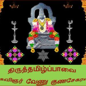 கவிஞர் வேணு குணசேகரனின் திருத்தமிழ்ப்பாவை பாசுரங்கள் 19 & 20